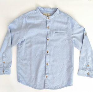 Boys Zara Collarless Button Down Shirt